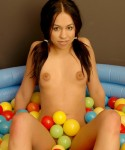 Cindy gets naughty in the ball pit