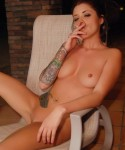 Jeska has a smoke while completely naked and showing off her tight body